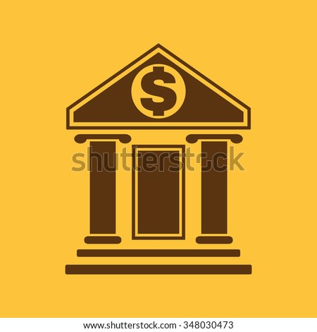 The bank icon. Banking and finance symbol. Flat Vector illustration