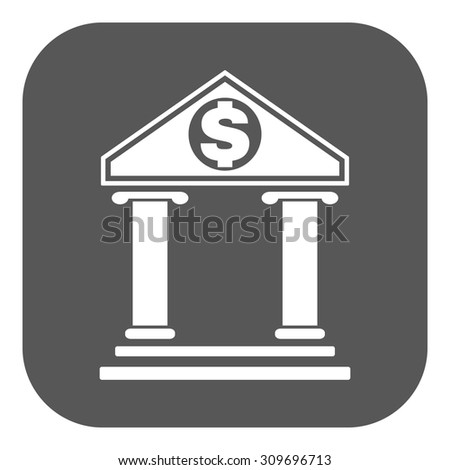 The bank icon. Banking and finance symbol. Flat Vector illustration. Button