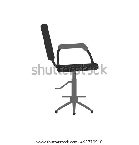 The barber chair. Furniture for beauty salon. Isolated object on a white background. Flat design. Vector illustration.