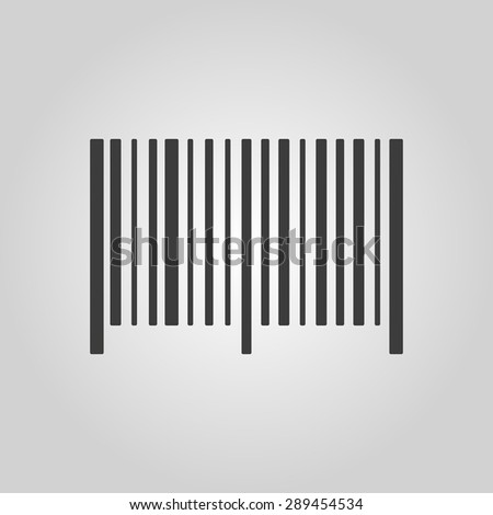 The barcode icon. Identification and ID symbol. Flat Vector illustration. Button Set - stock vector