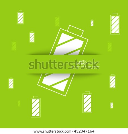The battery icon with a full charge. charging the battery. Abstract background with rechargeable battery. - stock vector