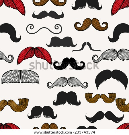 The beard-seamless - stock vector