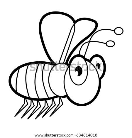 Larva Worm Cartoon Bugs Life Coloring Stock Vector 634813178