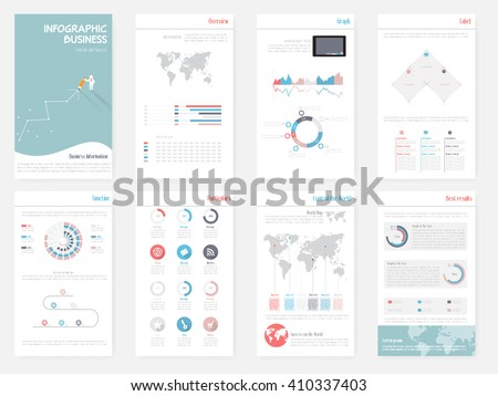 The Best Infographics Vector Elements in flat Design colors. Can be use in website, presentation, marketing corporate report, advertising