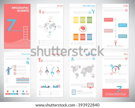 The Best Infographics Vector Elements in flat Design colors. Can be used in website, presentation, marketing corporate report, advertising