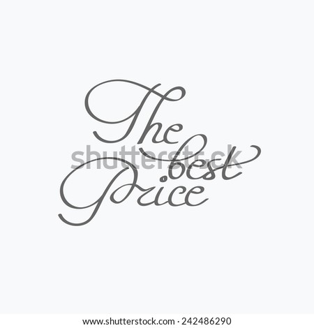 The best price. Vintage typography badge. Vector illustration - stock vector