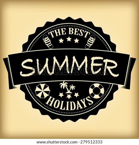 The best summer holidays retro emblem