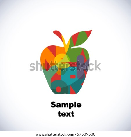 The Big Apple - stock vector