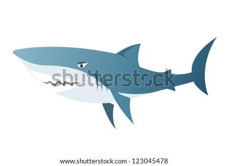 The big shark - stock vector