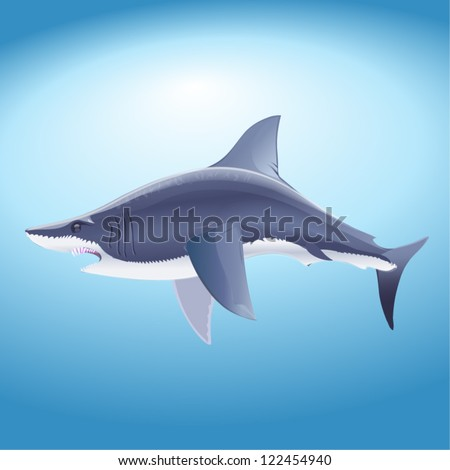 The big shark vector - stock vector