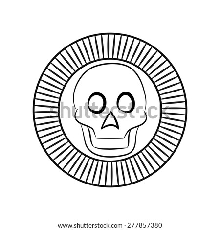 Black White Symbol Ancient Aztecs Sun Stock Vector 277857380