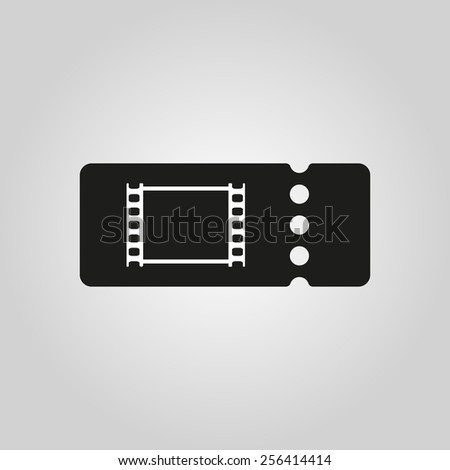 The blank cinema ticket icon. Cinema ticket symbol. Flat Vector illustration - stock vector