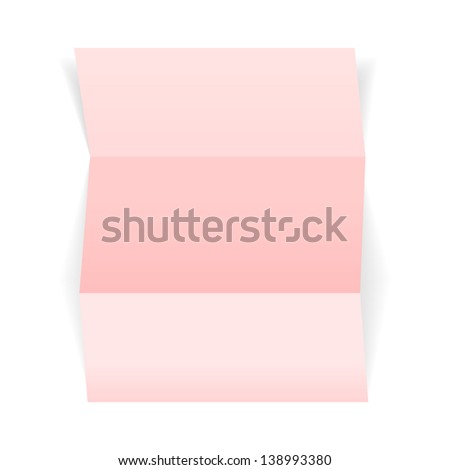 The blank pink piece of paper, ready for your text / piece of pink paper