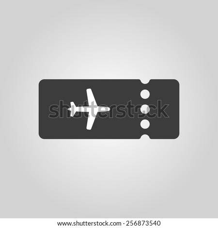 The blank ticket plane icon. Travel symbol. Flat Vector illustration - stock vector