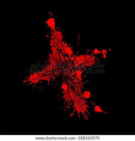 the bloody cross on a black background. Vector  - stock vector