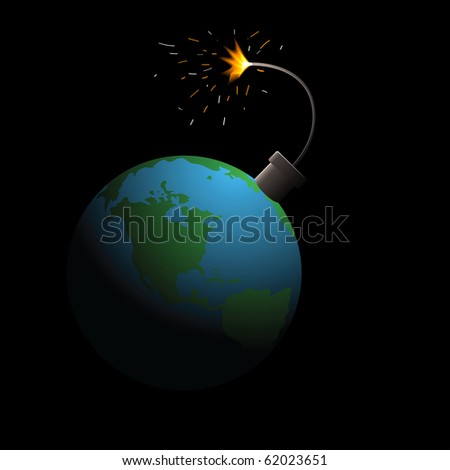 The bomb prepares to blow up a planet