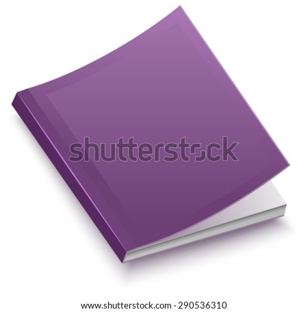 The book in paperback. Isolated illustration in vector format - stock vector