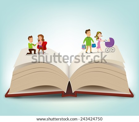 The Book Lovers.vector