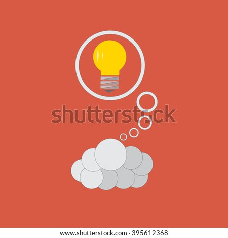 The brain is the generator of great ideas. Vector illustration. Flat style