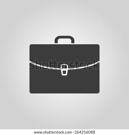 The briefcase icon. Portfolio symbol. Flat Vector illustration - stock vector
