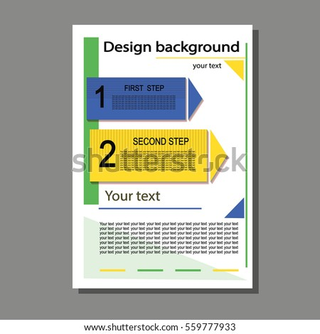 The brochure for the report, a cover leaflet, presentation, flyer flat design with abstract background