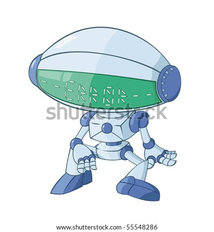 The broken robot - stock vector