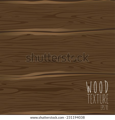 The brown wood texture. Vector illustration - stock vector