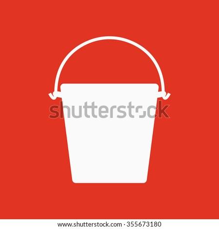 The bucket icon. Pail and bucketful symbol. Flat Vector illustration - stock vector