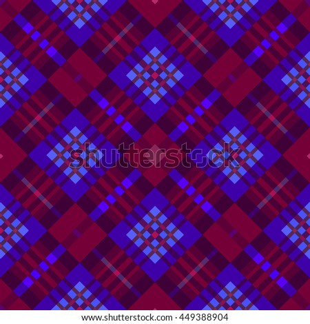 The Burgundy  seamless geometric pattern.Intersecting diagonal stripes.Vector illustration.Can be used for textile,fabric,wrapping paper. - stock vector