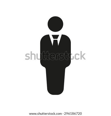 The business man icon. Avatar and user, men, gentleman symbol. Flat Vector illustration - stock vector
