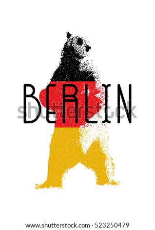 Capital Germany Berlin Symbol Berlin Bear Stock Vector 523250479