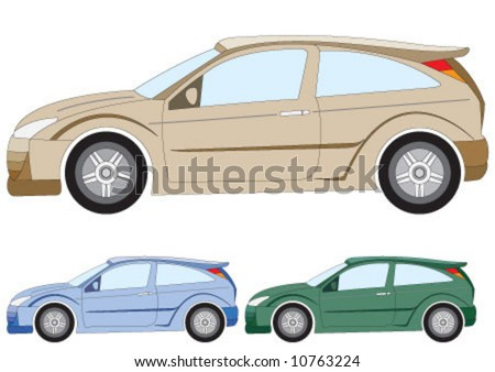 the car in three different color