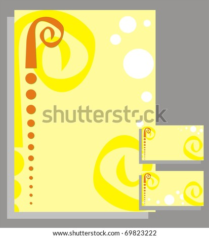 The card, firm form given firms - stock vector