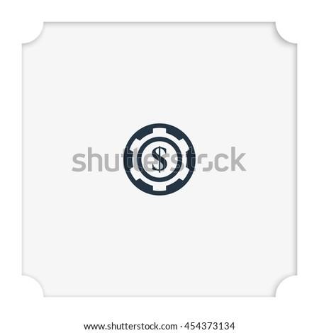 The casino chip icon. - stock vector