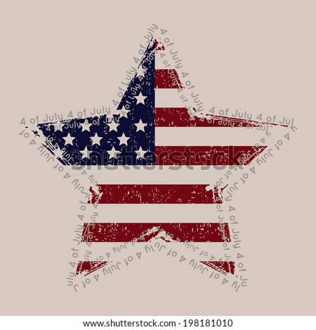 The celebration of The Independence Day  - stock vector