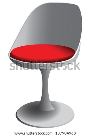 The chair in the form of a tulip. Vector illustration.