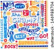 The Champ Success Word Doodles- Sports Trophy Winner Notebook Doodles-  Illustration Hand-Drawn Lettering Design Elements Set - stock vector