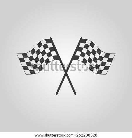 The checkered flag icon. Finish symbol. Flat Vector illustration