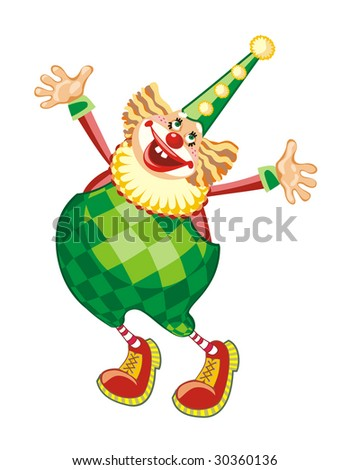 The cheerful clown, vector
