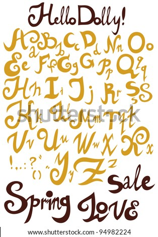 The Chocolate Alphabet from my big font collection - stock vector