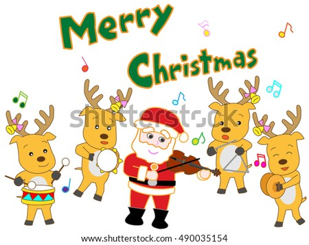 The Christmas concert of Santa Claus and the reindeer.