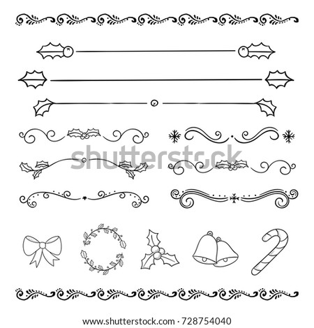 The Christmas Holiday Drawing Design Decoration Element Icon Set