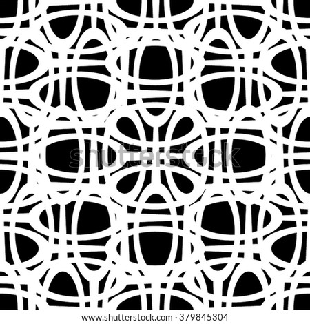 The circle in the mesh pattern, seamless vector background.