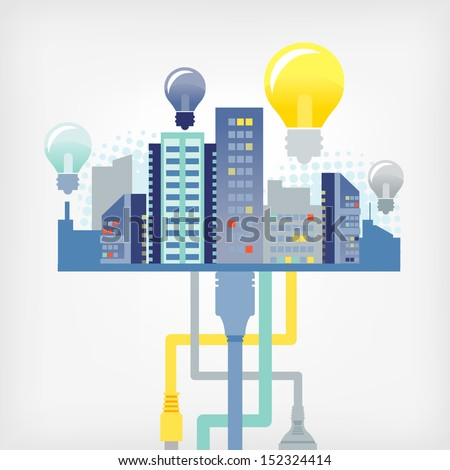 the city of ideas - stock vector