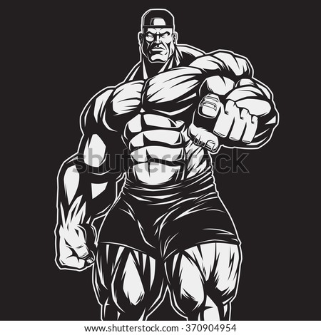 The coach of bodybuilding and fitness - stock vector