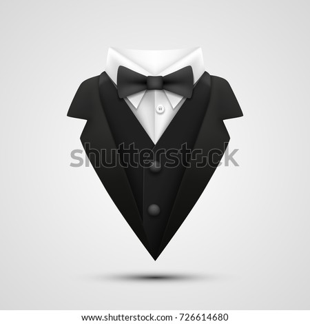 The collar of the jacket on a white background. Vector illustration