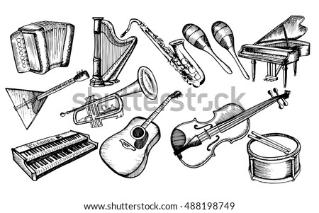 Collection Musical Instruments Stylized