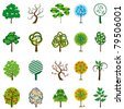 The collection of trees for design. Vector illustration - stock vector