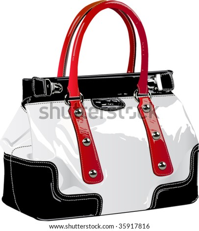 The color vector image of a female bag - stock vector