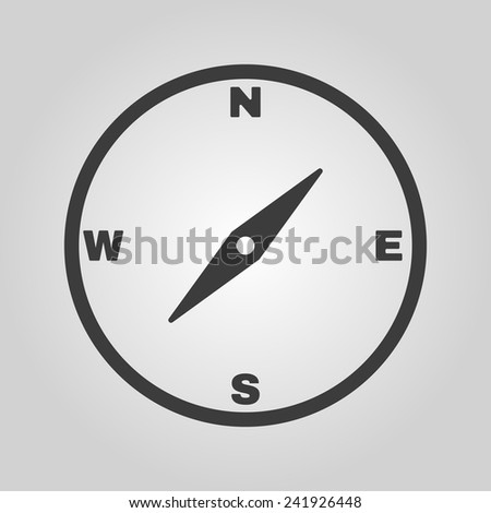 The compass icon. Compass symbol. Flat Vector illustration - stock vector